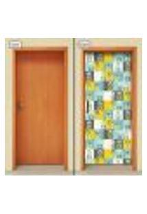 Adesivo Decorativo De Porta - Flores - 1642Cnpt