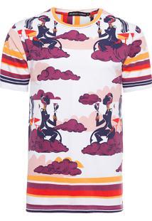 Camiseta Masculina Careca Mulher Drink - Branco E Vermelho