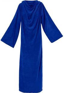 Cobertor Solteiro Loani Soft Tv Com Mangas Azul