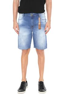 Bermuda Jeans Dimy Slim Hian Azul