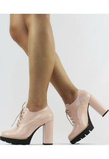 Ankle Boot Amy Verniz Quartzo Feminino - Feminino-Nude