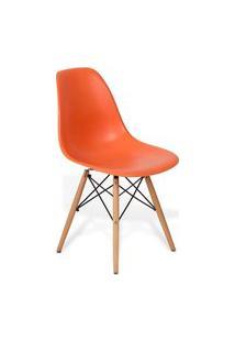 Cadeira Eames Dkr Wood Laranja