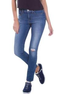 ... Calça Jeans Levis 311 Shaping Skinny 4 Way Stretch - Feminino-Azul Royal c116b8c6917