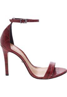 Sandália Gisele Croco Red | Schutz