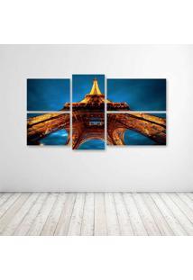 Quadro Decorativo - La Tour Eiffel - Composto De 5 Quadros - Multicolorido - Dafiti