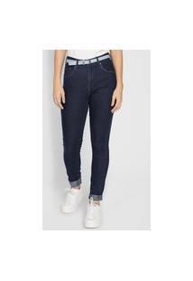 Calça Jeans Guess Skinny Logo Azul