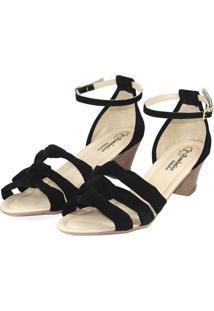 Sandália Romântica Calçados Preto