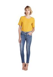 Calça Maria.Valentina Skinny M. Julia Cós Intermediário Barra Desmanchada Jeans