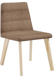 Cadeira Caju F58-1 Linhão – Daf Mobiliário - Bege