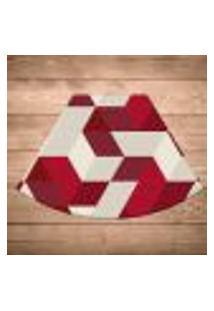 Jogo Americano Para Mesa Redonda Wevans Red Geometric Kit Com 6 Pçs