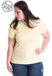 Camisa Polo Konciny Piquet 96312 Amarelo