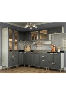 Cozinha Completa 8 Peças Americana Multimóveis 5651 Branco/Grafite