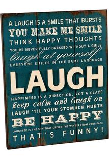 Quadro Decorativo De Parede Laugh