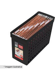 Arquivo Estreito Com Furação- Preto- 27,1X16,4X43Cmordene