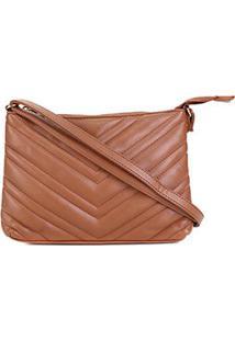 Bolsa Pagani Mini Bag Transversal Matelassê Feminina - Feminino-Marrom