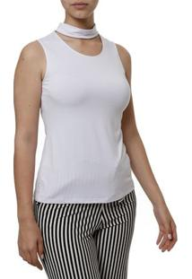 Blusa Regata Feminina Branco
