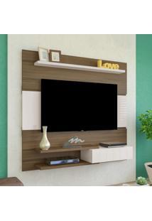 Painel Para Tv Até 50 Polegadas 1 Porta Monza Artely Amêndoa/Off White