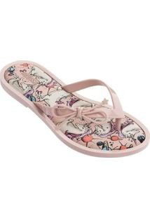 Chinelo Melissa Flip Flop Unicorn Feminino - Feminino-Rosa