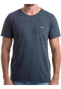 Camiseta Clothis Corrosion Blue Estonada Respingos Masculina - Masculino