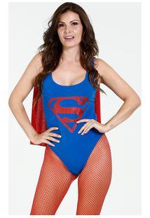Body Feminino Super Homem Liga Da Justiça