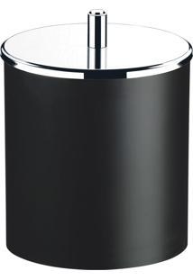 Lixeira Decorline Preta Com Tampa Basculante 3400252 Brinox