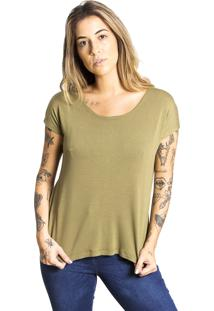 Camiseta Básica Le Julie Verde Militar - Tricae
