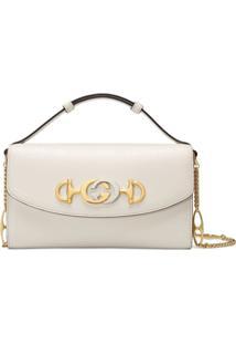 Gucci Gucci Zumi Mini Shoulder Bag - Branco
