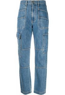 Slvrlake Calça Jeans Cintura Alta - Azul