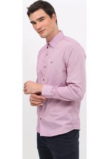 Camisa Slim Fit Listrada Com Bordado - Bordã´ & Rosa-Docthos
