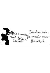 Passadeira Love Decor Mãe É Poesia, Tons, Letras.. Off White
