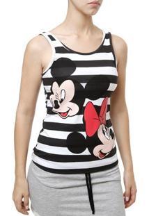 Blusa Regata Feminina Disney Preto/Branco