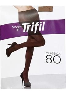 Meia-Calça Trifil Opaca Fio 80 - Feminino-Bege