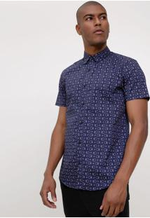 Camisa Slim Estampada