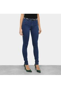 Calça Jeans Biotipo Soft Skinny Cintura Média Com Cinto Feminina - Feminino