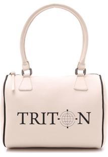 Bolsa Baú Triton Logo Rosa