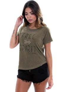 Camiseta Estonada Le Julie Verde Militar