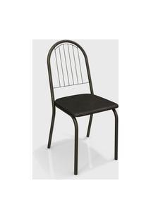 Cadeira Noruega Bronze/Preto De Metal (Par) Kappesberg