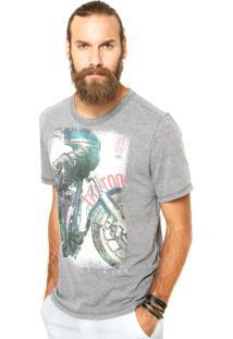 Camiseta Triton Motorcycke Cinza