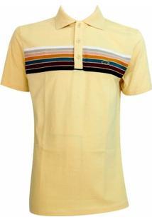 Camisa Pau A Pique Polo - Masculino-Amarelo