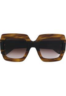 d52a361d04798 Gucci Eyewear Óculos De Sol Quadrado - Marrom