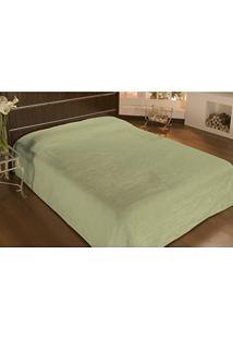 Cobertor Queen Microfibra Liso 2,40X2,20M Verde Folha - Camesa