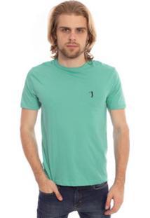 Camiseta Aleatory Lisa Masculina - Masculino-Verde
