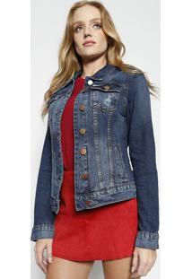 61d24e8364 ... Jaqueta Jeans Com Recortes - Azul Escurocalvin Klein