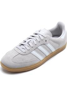 Tênis Couro Adidas Originals Samba Og W Cinza