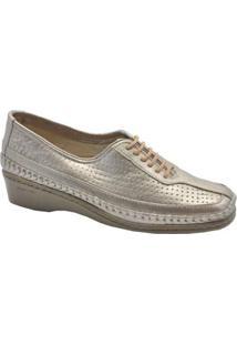 Sapato Fechado Laura Prado Feminino - Feminino-Prata