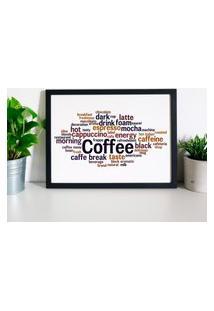 Quadro Decorativo Com Moldura Coffee Preto - 20X25Cm