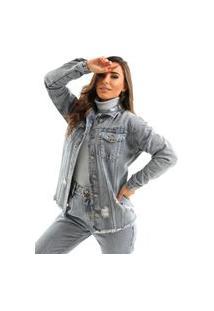 Jaqueta Zaiz Jeans Maxi Índigo Claro