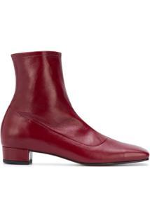 By Far Ankle Boot Este - Vermelho