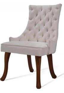 Cadeira Rocaille Capitone Perola Base Natural - 50565 - Sun House