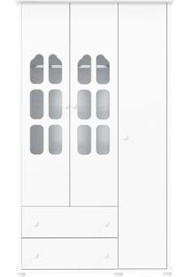 Guarda-Roupa 3 Portas Amore Branca-Acetinado Matic Móveis